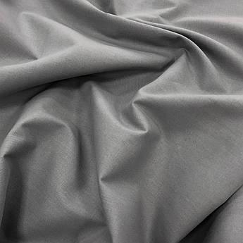 "Отрез ткани Турецкая хлопковая ткань ранфорс ""Серый"" 95х240 см №53"