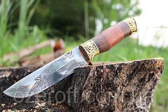Мисливський ніж з дерев'яною ручкою Вовк 26см