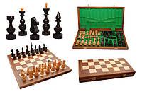 Шахматы 3145 DEBIUT Intarsia, коричневые 49x24.5x7см (король-125мм)