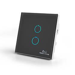 Сенсорний вимикач Z-Wave MCO Home на 2 каналу чорний — MCO_TPS412B