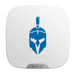 Лицьова панель Ajax Brandplate для брендування вуличної сирени StreetSiren DoubleDeck (10 шт.) white