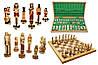 Шахматы 3157 EGIPT Intarsia, камень, коричневые 64.5x32.5x7.5см (король-135мм)