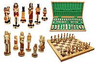 Шахматы 3157 EGIPT Intarsia, камень, коричневые 64,5x32,5x7,5см (король-135мм)