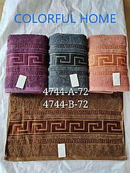 Банное махровое полотенце Версаче  8 шт в уп. Размер 1.4х70 - 100% хлопок