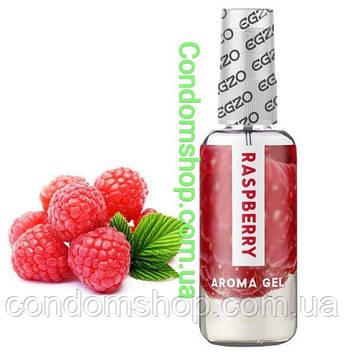 Сьедобная гель-смазка  Egzo Aroma gel RASPBERRY вкус  МАЛИНА Великобритания.50 мл.ПРЕМИУМ  БРЕНД