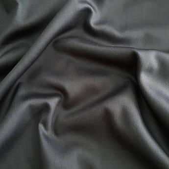 Отрез ткани Сатин темно-серый  30х240 см №64