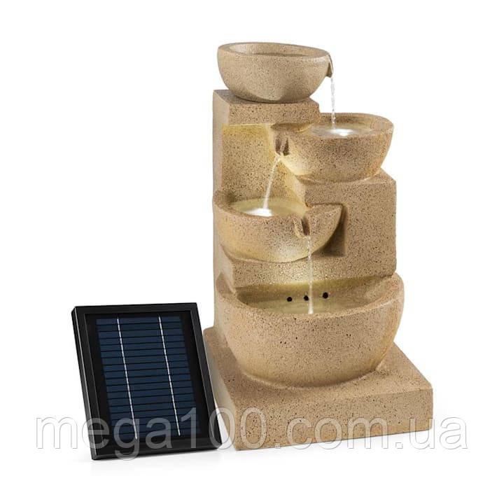 Немецкий декоративный каскадный фонтан на солнечной батарее