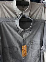 Рубашка мужская с коротким рукавом лен норма