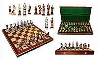 Шахматы 3156 SPARTAKUS Intarsia, коричневые 59x29.5x7см (король-135мм)