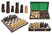 Шахматы 3124 MUMINEK, коричневые 49.5x24.5x6см (король-110мм)