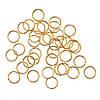 Соединительные колечки (кольца) Золотые 7 мм 100 грамм/1385 штук