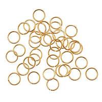 Соединительные колечки (кольца) Золотые 6 мм 50 шт/уп