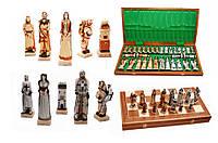 Шахматы 3160 GRUNWALD Intarsia, коричневые 59х29.5х7см (высота короля-135мм)