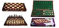 Шахматы 2000 Ambasador коричн. 54x27x6см (король-110мм)