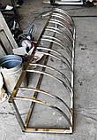 Велопарковка Graceful з нержавійки на 7 велосипедів, фото 5