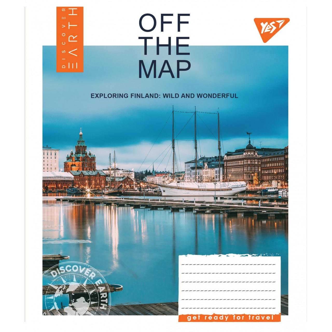 Набор тетрадей 5 штук YES Off the map,в клетку 60 листов 765558