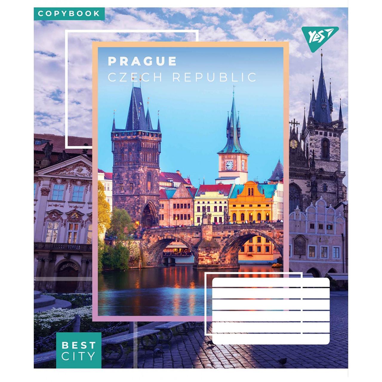 Набір зошитів 5 штук YES Best city,60 аркушів в клітинку 765554