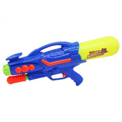 Дитячий водяний пістолет, автомат з накачуванням, синій, 54см