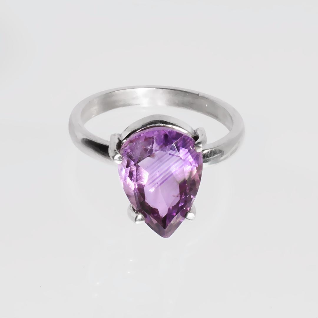 Серебряное кольцо с аметистом, 1760КА