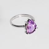 Серебряное кольцо с аметистом, 1760КА, фото 2