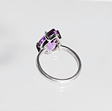 Серебряное кольцо с аметистом, 1760КА, фото 3
