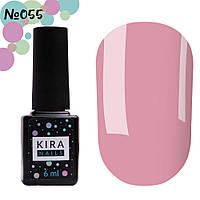 Гель-лак Kira Nails №055 (світло-рожевий, емаль), 6 мл, фото 1