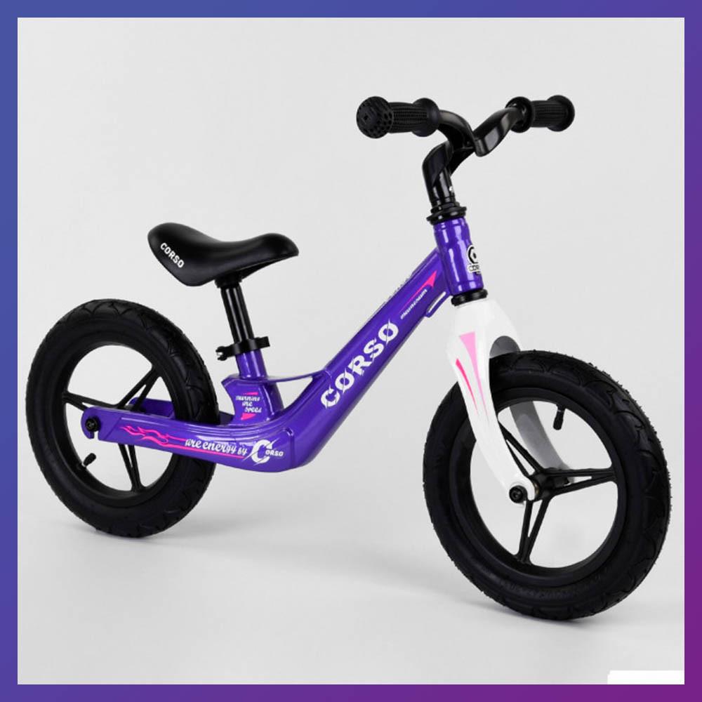 Дитячий беговел велобіг від на магнієвої рамі 12 дюймів Corso 22709 фіолетовий