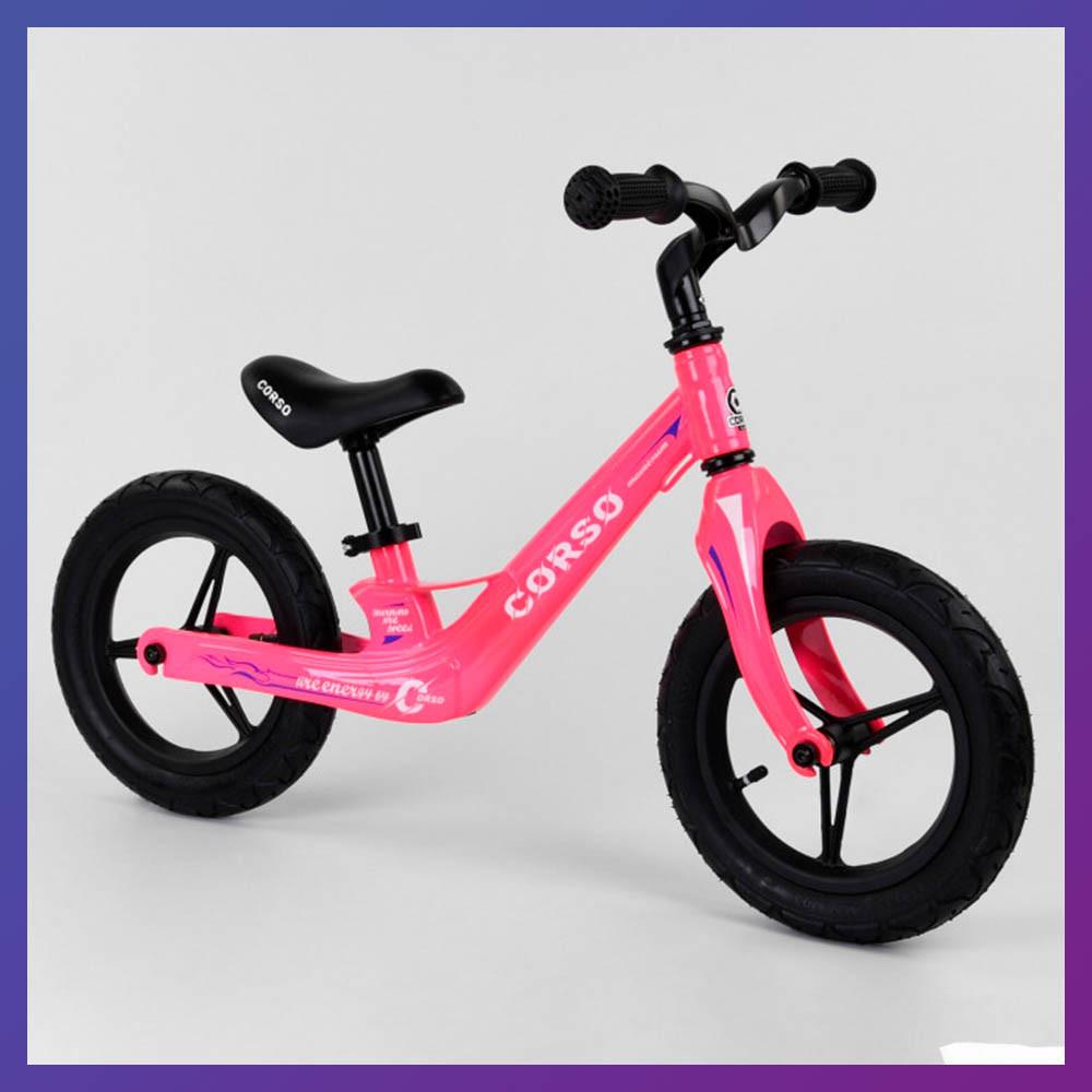 Дитячий беговел велобіг від на магнієвої рамі 12 дюймів Corso 76360 рожевий