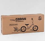 Дитячий беговел велобіг від на магнієвої рамі 12 дюймів Corso 76360 рожевий, фото 2