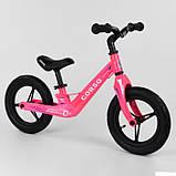 Дитячий беговел велобіг від на магнієвої рамі 12 дюймів Corso 76360 рожевий, фото 3