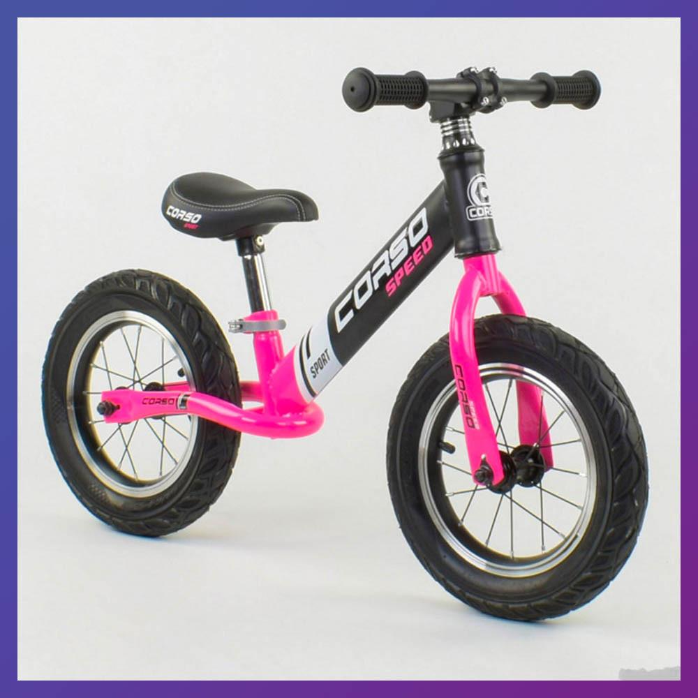 Дитячий беговел велобіг від 12 дюймів Corso 88621 рожевий