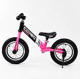Дитячий беговел велобіг від 12 дюймів Corso 88621 рожевий, фото 3