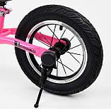 Дитячий беговел велобіг від 12 дюймів Corso 88621 рожевий, фото 5