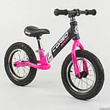 Дитячий беговел велобіг від 12 дюймів Corso 88621 рожевий, фото 7