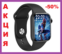 Умные смарт часы для взрослых Smart Watch М16 Plus 44мм 6 series Black (Чёрные) с беспроводной зарядкой