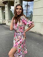 Платье летнее цветочный принт