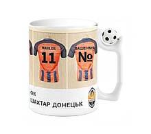"""Чашка с футбольным мячиком на ручке """"Я за Шахтер"""""""
