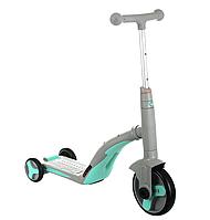 Scooter скутер 3 в 1(самокат, велосипед, беговел) з підсвічуванням і музикою (сірий)