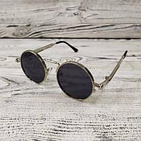 Модные круглые мужские солнцезащитные очки, качественные солнцезащитные очки с металлической оправой