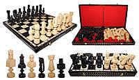Шахматы 3102 LARGE CEZAR, коричневые 82x41x8.5см (король-215мм)
