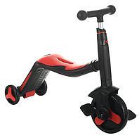 Scooter скутер 3 в 1(самокат, велосипед, беговел) з підсвічуванням і музикою (червоний)