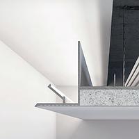 Алюминиевый профиль теневого шва 50 мм для парящего потолка с подсветкой