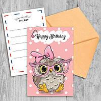 Поздравительная открытка Happy Birthday Girl