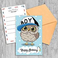 Поздравительная открытка Happy Birthday Boy