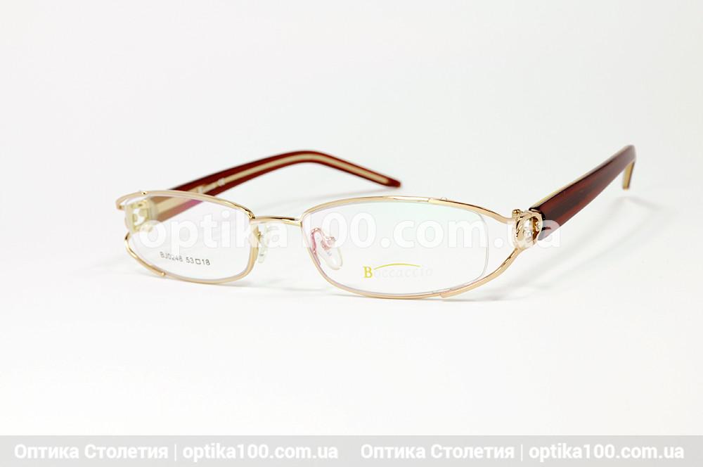 Вузька жіноча оправа. Полуободковая металева. Boccaccio 0248