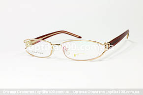 Вузька жіноча оправа. Полуободковая металева. Boccaccio 0248, фото 2