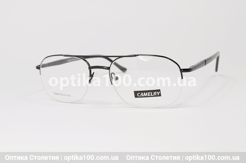 Оправа для окулярів чоловіча металева. Овальна полуободковая на волосіні