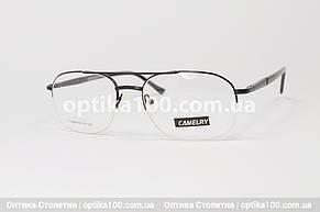 Оправа для окулярів чоловіча металева. Овальна полуободковая на волосіні, фото 2