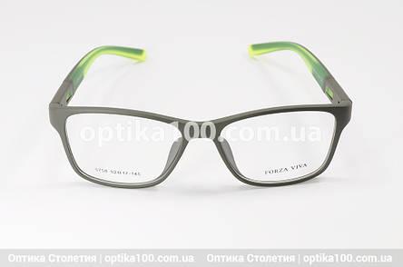 Оправа для окулярів у спортивному стилі. Оливково-зелена пластикова матова, фото 2