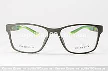 Оправа для окулярів у спортивному стилі. Оливково-зелена пластикова матова, фото 3